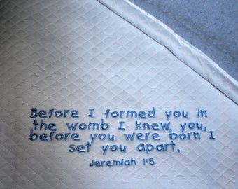 Personalized Baby Blanket - Jeremiah 1:5