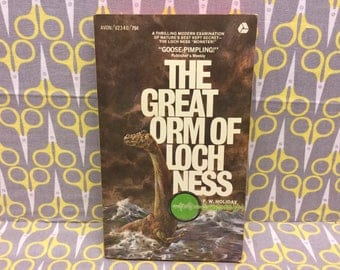 The Great Orm of Loch Ness by FW Holiday paperback book vintage ufos monsters aliens