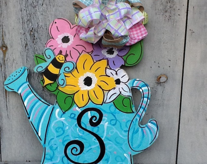 Happy spring y'all door hanger, happy spring door hanger, happy summer door hanger, summer door hanger, happy Mother's Day door hanger,