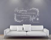 Harry Potter Wall Sticker decal quote Happiness can be found even in the darkest of time Dumbledore quote  Harry Potter wall art decor