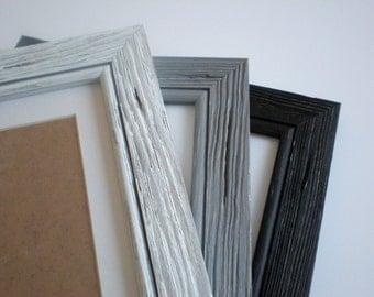 Photo frame distressed wood frame A3 driftwood frame rustic wood frame CHOOSE Colors barnwood solidwoodshop