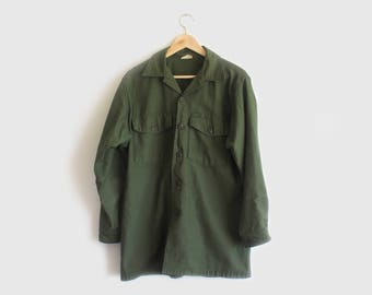 vintage military button up