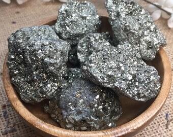 Raw Pyrite Crystal Raw Stone Healing Crystals and Stones Rough Pyrite Abundance Stone Meditation Stone Fools Gold Pyrite Stone