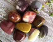 Mookaite Jasper Tumbled Stones- Tumbled Stones-Mookaite Jasper-Polished Gemstones-Metaphysical Crystals-Palm Stones-Tumbled Gemstones