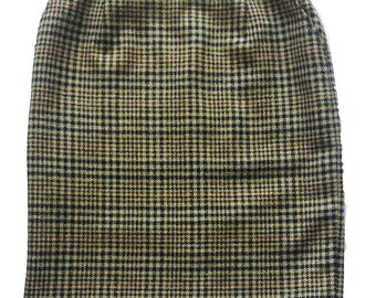 Vintage tartan wool skirt