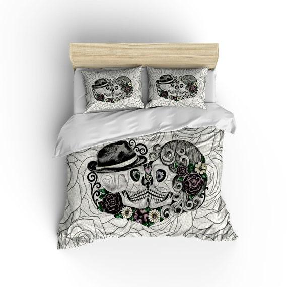 Sugar Skull Comforter Set Duvet Cover Day Of The Dead