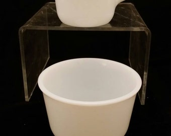 Opulecent Pyrex cream and sugar pair