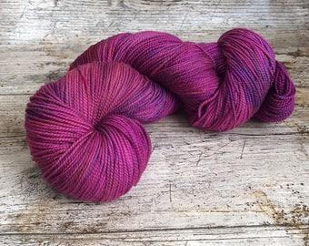 Hand Dyed, Superwash, Merino, Yarn, Wool, Sock,  High Twist, ilovepinkgeraniums
