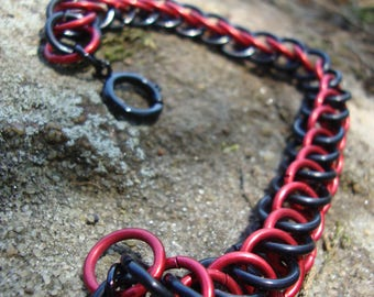 Chainmaille Bracelet, Persian Weave
