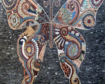 Butterfly marble mosaic