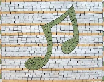 Musical Note Mosaic Art