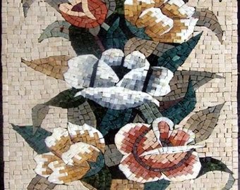 Awesome Floral Bouquet Mosaic Hand Made