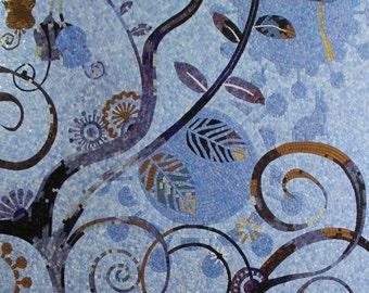 Artistic Floral Glass  Mosaic