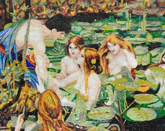 "Waterhouse  ""Hylas and The Nymphs"" - Mosaic Reproduction"