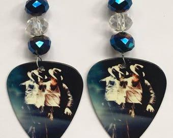 1 Pair- Michael Jackson Guitar Pick Earrings