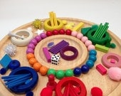 Reggio Emilia Educational Philosophy Inspired Loose Parts with Tinker Tray~Math Manipulatives~Fine Motor~Sorting~Educational