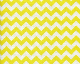 Chevron Zig Zag Sunshine Yellow Fabric
