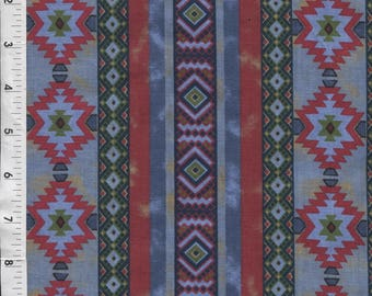 "A E Nathan ""Aztec"" Christmas Colored Fabric"