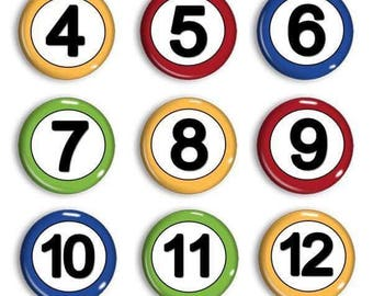 Student Number Magnets - Attendance Numbers - Calendar Magnets - Counting Practice - Early Math - Home-school Family - Preschool Learning