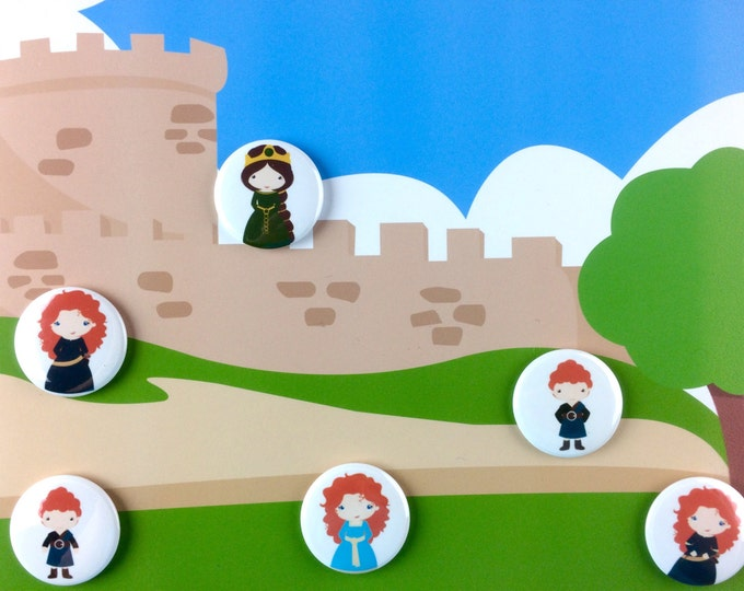 Renaissance Play Set - Castle Set - Princess Magnets - Quiet Toy - Pretend Play - Preschool Learning - Stocking Stuffer
