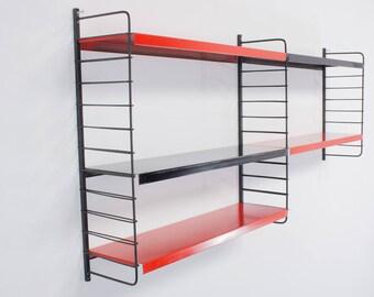 Vintage metal Wall unit, Mid Century shelving system