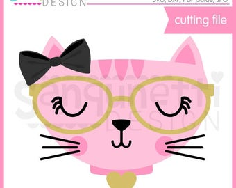 Cat SVG, Fancy Cat SVG, kitty svg, kitten svg, cat clipart, cat cutting file, svg Files for Cutting Machines