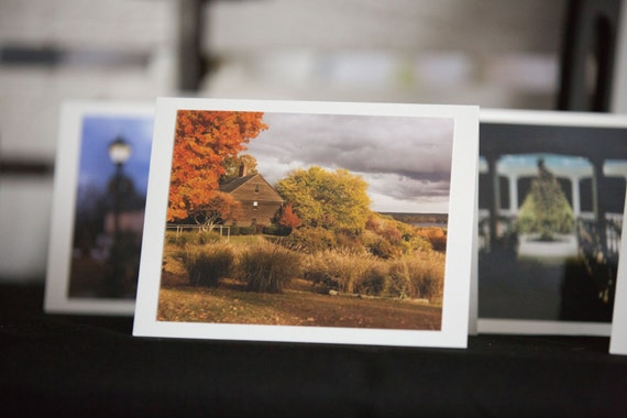 Boxed Set of 5 Sutton MA Blank Greeting Cards