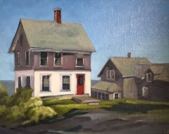"""Oil Painting 16"""" x 12"""" / Horn Hill Cottages"""