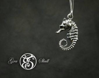 Silver or brass Seahorse Earrings