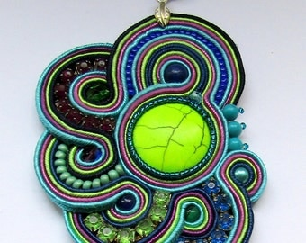 Color Pendant soutache