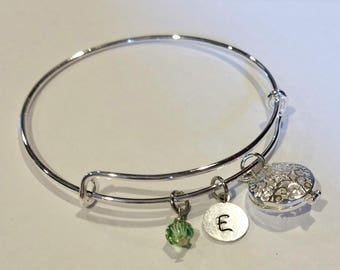 Essential oil bracelet - Aromatherapy bracelet - essential oil locket - essential oil diffuser - diffuser bracelet - bangle bracelet