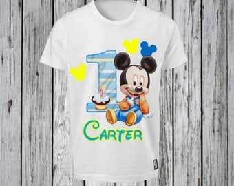 Mickey Mouse First Birthday Iron T shirt Design FILE ONLY! Disney 1st Birthday- Mickey 1st Birthday- Boy First Birthday shirt- Birthday shir