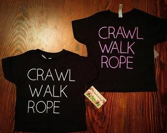 Crawl walk rope toddler tee