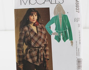 Lined Jacked Pattern, Uncut Sewing Pattern, McCalls 5937, Size 12-20