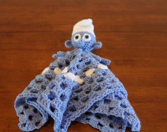 Smurf blanket, Baby Animal Blanket, security blanket, baby blanket, animal blanket, lovey blanket, soft baby blanket