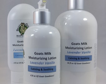 Lavender Vanilla Lotion, Lavender Lotion,  Lotion, Goat Milk Lotion, Goats Milk Lotion