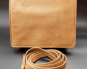 Sale! FENDI Vintage Beige  Leather Crossbody/ Shoulder Bag. Italian designer purse.