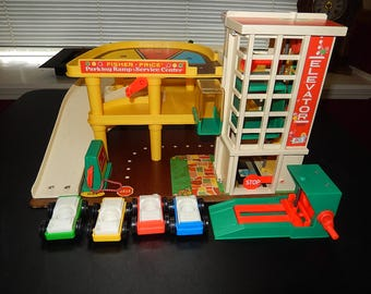 Fisher Price Parking Garage and Service Center, #930; Complete, 1970's.