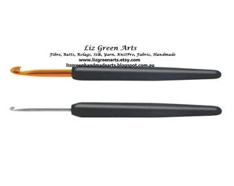 "KnitPro ""Soft Grip"" Crochet Hooks ~ Aluminum And Steel Individual Hooks, 0.50mm - 12.00mm Liz Green Arts Lace Fine Chunky Hooking Rug Supply"