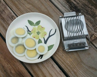 Vintage Egg Slicer, Vintage Kitchen Gadget, Vintage Aluminum Egg Slicer, Made In Germany
