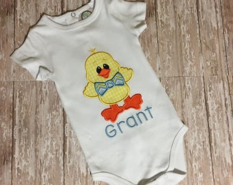 Chick with Bow Tie Onesie or T-Shirt; Easter;