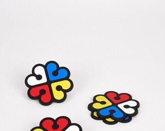 Set of 4 Montreal Flower Logo Coasters