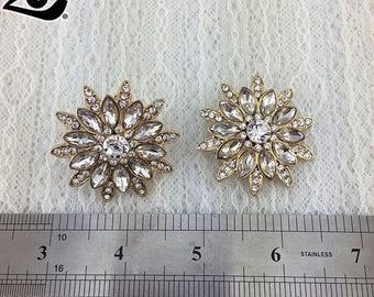 2 pcs/Pair Sparkle Wedding Rhinestone Shoe Clips