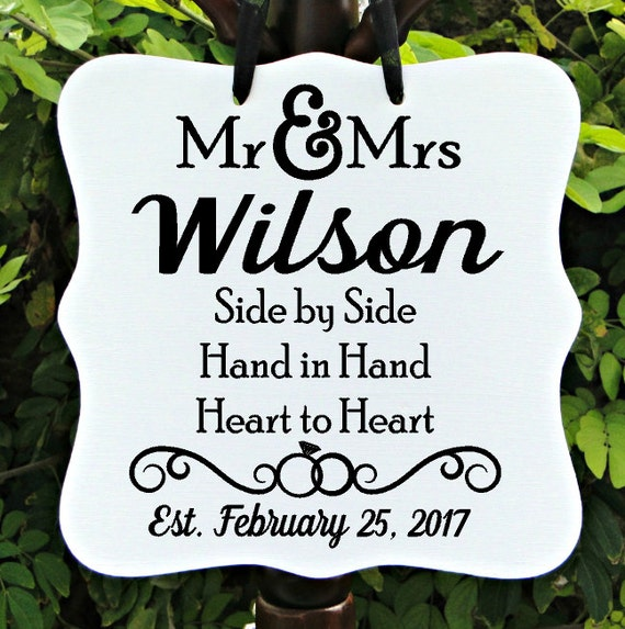 Mr & Mrs Sign, Wedding Sign, Personalized Sign, Last Name Sign, Marriage Sign, Reception Sign, Established Sign, Anniversary Sign