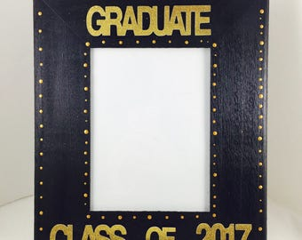 ON SALE-Class of 2017 Graduation Picture Frame-Kindergarten Graduation Frame-Preschool Graduation Picture Frame-graduation gift
