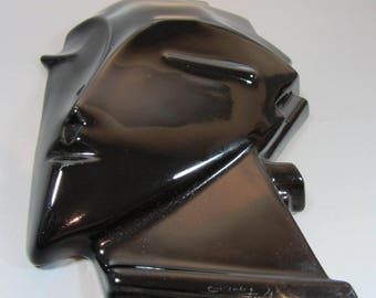 Vintage Face Mask by Lindsey B in black Gloss   one of two listed