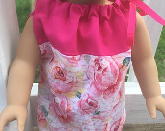 American Girl doll rose pillowcase dress