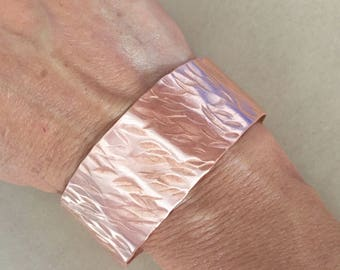 Copper bracelet, copper jewelry, hammered copper bracelet, womens bracelet, wide bracelet, copper cuff bracelet