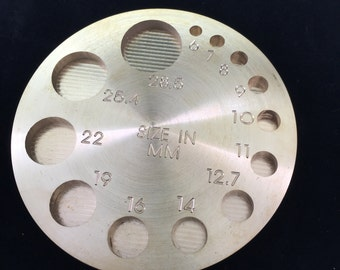 Brass Circle Plug mold (for making  gages)