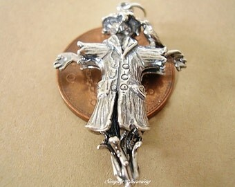 Sterling Silver Large Scarecrow Charm